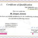 sertifikat lg klime single a